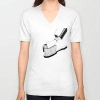 good morning V-neck T-shirts featuring Good Morning by Henn Kim