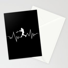 Baseball Heartbeat product Cool Gift for Sport Lovers Stationery Cards