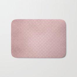 Grunge textured rose quartz small scallop pattern Bath Mat