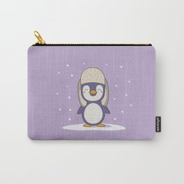 Kawaii Cute Christmas and Winter Penguin Carry-All Pouch