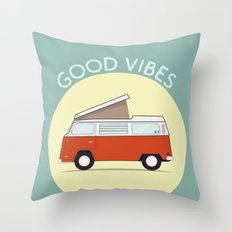Adventure Mobile Van - Good Vibes Throw Pillow
