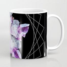 Crystal Totem Line Work Occult Tattoo Style Illustration Coffee Mug