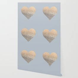 GATSBY GOLD HEART GREY II November Skies Wallpaper