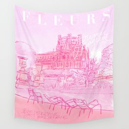 Fleurs Paris Wall Tapestry