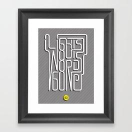 Lights Out, Words Gone Framed Art Print