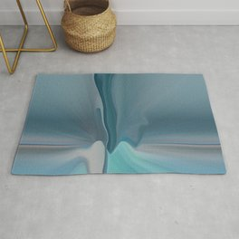 Melting Sea Glass Abstract Rug