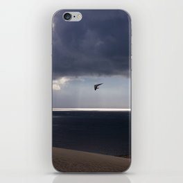 flying over the ocean iPhone Skin