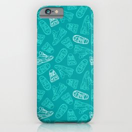 Sneakers // Turquoise iPhone Case