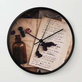 she puts the seeds in me, plant this dying tree Wall Clock