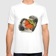 Foodies White SMALL Mens Fitted Tee