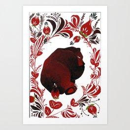 central bear Art Print