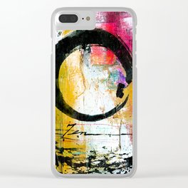 Enso Abstraction No. mm15 Clear iPhone Case