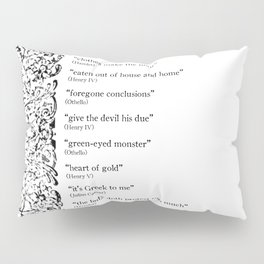 Words Words Words - William Shakespeare Quotations print Pillow Sham