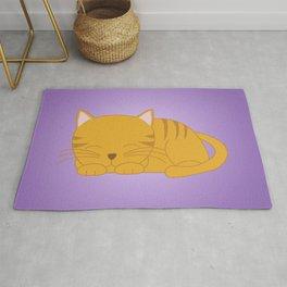 Orange Tabby Kitten Rug
