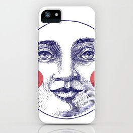Moon Face iPhone Case