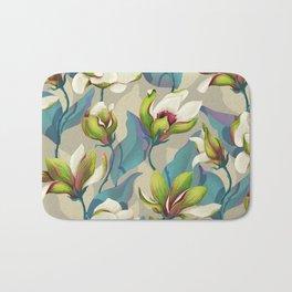 magnolia bloom - vivid version Bath Mat