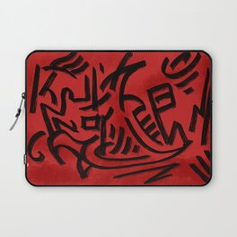 Nation of Fire and Coal Red Abstract Pattern Laptop Sleeve