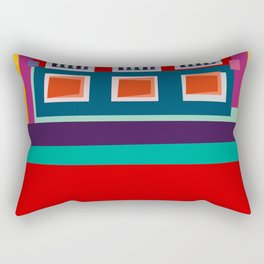 Manarola House, Cinque Terre, Italy Rectangular Pillow