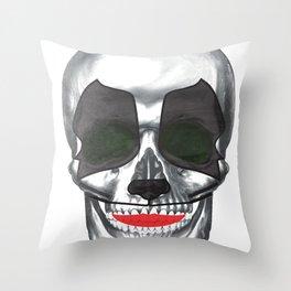 Catman-KISS skull Throw Pillow