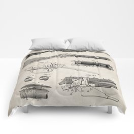 Automatic Rifle Patent - Browning Rifle Art - Antique Comforters