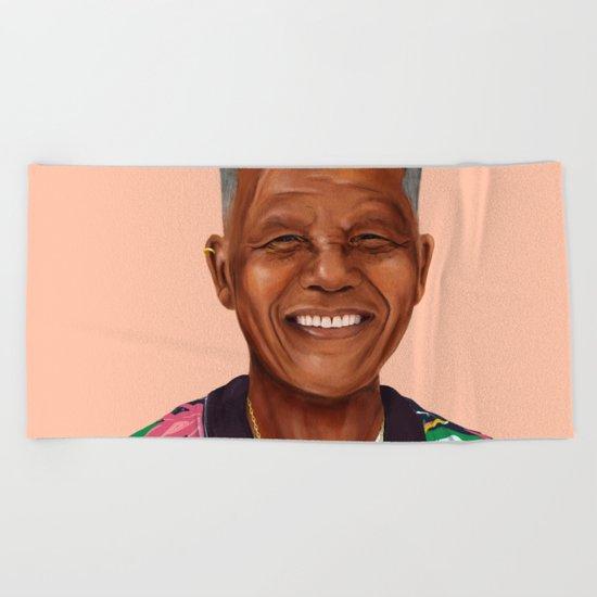 Hipstory - Nelson Mandela Beach Towel