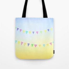 Pastel Bunting Tote Bag