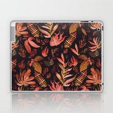 brown watercolor leaves Laptop & iPad Skin