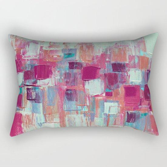 Rose Gold Organic Party No. 1 Rectangular Pillow