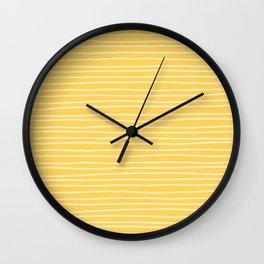 Sunshine Yellow Pinstripes Wall Clock