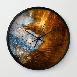 Abstract Acrylic Blizzard Wall Clock
