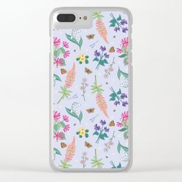 Violets Honeysuckle & Lavender Pattern Clear iPhone Case