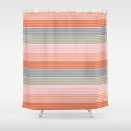 Happy Days Strip Duvet Shower Curtain
