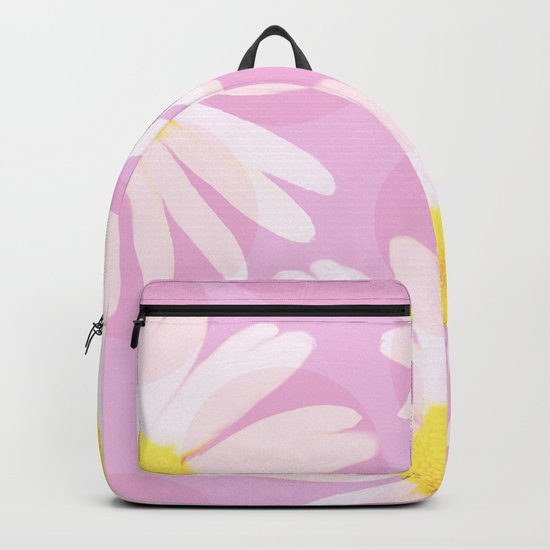 Flowers and dots on a pink background - lovely summery - #daisy #society6 #buyart Backpack