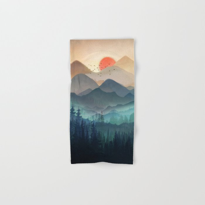 Wilderness Becomes Alive at Night Hand & Bath Towel