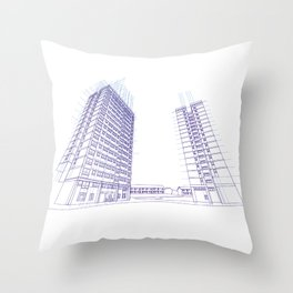 Under Construction Throw Pillow
