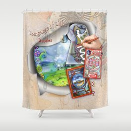 Language of Light Workshop Shower Curtain
