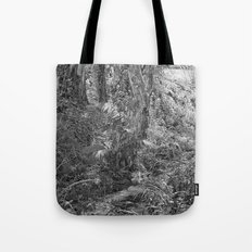 Rain forest view with creek Tote Bag