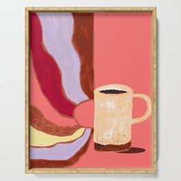 Morning Coffee Feels Like Serving Tray