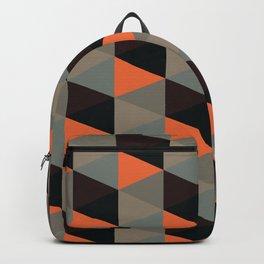 Halloween Colors Geometric Hexagon Backpack