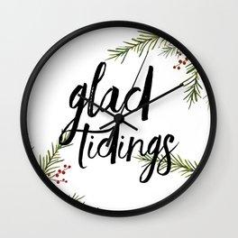 A glad tidings holiday Wall Clock
