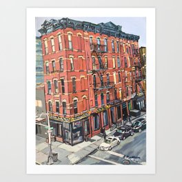 View of 17th Street From the High Line Art Print