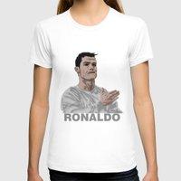 ronaldo T-shirts featuring Cristiano Ronaldo by siddick49
