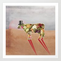 cow Art Prints featuring Cow by Oleg Borodin