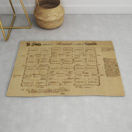 Map Of Savannah 1761 Rug