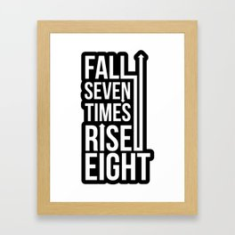 Rise (Black) Framed Art Print