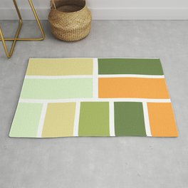 Citrus orange grove Rug