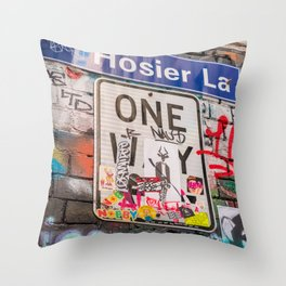 Hosier Lane Street Graffiti Melbourne Printable Wall Art | Australia Urban City Photography Print Throw Pillow