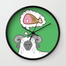 I Dream of Meat Wall Clock