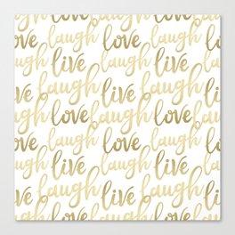 Live Laugh Love II Canvas Print