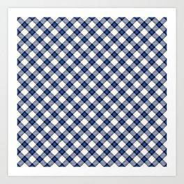 Blue Tartan Art Print